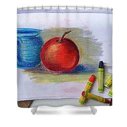 Petit Exercice En Pastel L'huile Shower Curtain