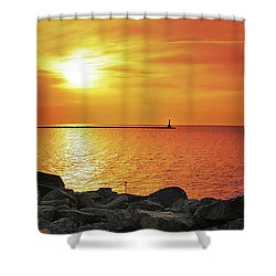 Petoskey Sunset Shower Curtain