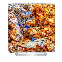 Petrified Abstraction No 3 Shower Curtain by Andreas Thust