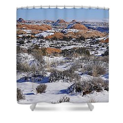 Petrified Dunes At Arches National Park Shower Curtain