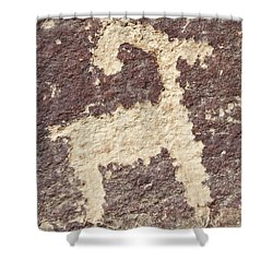 Petroglyph - Fremont Indian Shower Curtain