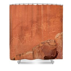Petroglyphs In Capital Reef Shower Curtain