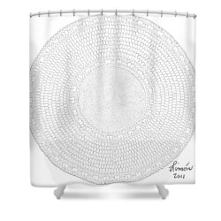 Petrograph Turtle-2 Shower Curtain