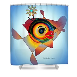 Petunia Parrot 2 Shower Curtain