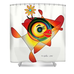 Petunia Parrot Shower Curtain