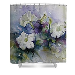 Petunias In Summer Shower Curtain