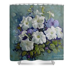 Petunias Symphony Shower Curtain
