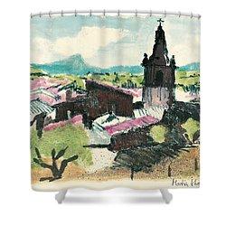 Peyruis Village In Provence Shower Curtain by Martin Stankewitz