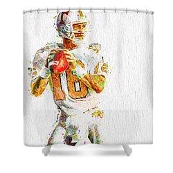 Peyton Manning Nfl Football Painting Tv Shower Curtain