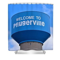 Pflugerville Texas - Water Tower Shower Curtain