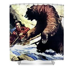 Shower Curtain featuring the painting Pg- Dangerous Waters by JQ Licensing