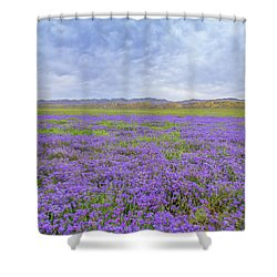 Shower Curtain featuring the photograph Phacelia Field by Marc Crumpler