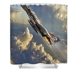 Phantom Cloud Break Shower Curtain