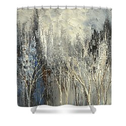Shower Curtain featuring the painting Phantom Glory by Tatiana Iliina