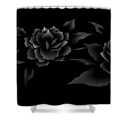Phantom Peonies Shower Curtain