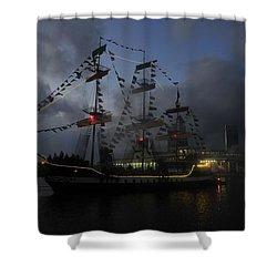 Phantom Ship Shower Curtain by David Lee Thompson