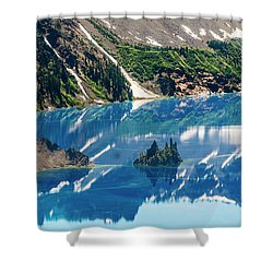 Phantom Ship Island Shower Curtain