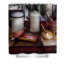 Pharmacist - Equipment For Making Pills  Shower Curtain by Mike Savad