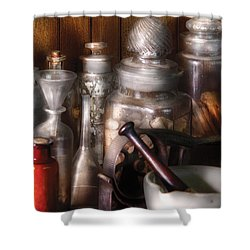 Pharmacist - Tools Of The Pharmacist  Shower Curtain by Mike Savad