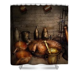 Pharmacy - Alchemist's Kitchen Shower Curtain by Mike Savad