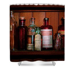 Pharmacy -  Oils And Inhalants Shower Curtain by Mike Savad