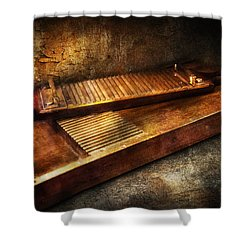 Pharmacy - Traditional Pill Crusher  Shower Curtain by Mike Savad