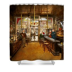 Shower Curtain featuring the photograph Pharmacy - Congdon's Pharmacy 1910 by Mike Savad