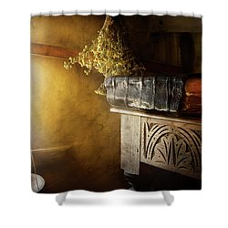 Shower Curtain featuring the photograph Pharmacy - The Apothecarian by Mike Savad
