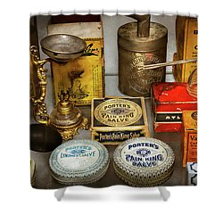 Shower Curtain featuring the photograph Pharmacy - The Pain King by Mike Savad