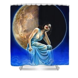 Phases Of The Moon, Third Quarter Shower Curtain by Wayne Pruse