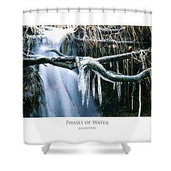 Shower Curtain featuring the digital art Phases Of Water by Julian Perry