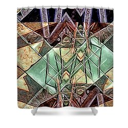 Shower Curtain featuring the digital art Phasmids by Ron Bissett