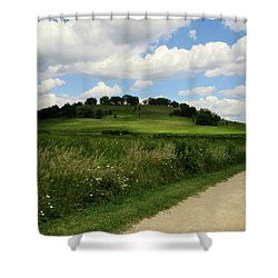 Shower Curtain featuring the photograph Pheasant Branch Hill by Kimberly Mackowski