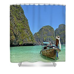Phi Phi Islands 3 Shower Curtain by Eva Kaufman