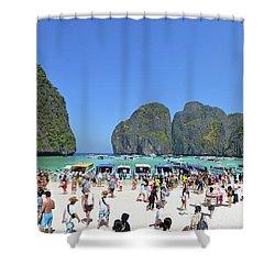 Shower Curtain featuring the digital art Phi Phi Islands 4 by Eva Kaufman