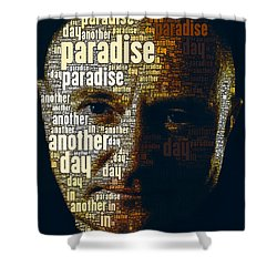 Phil Collins Word Portrait  Shower Curtain
