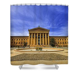 Philadelphia Art Museum Shower Curtain by Evelina Kremsdorf