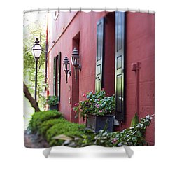 Philadelphia Ave Street Lamp Shower Curtain