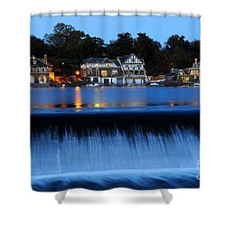 Philadelphia Boathouse Row At Twilight Shower Curtain