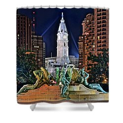 Philadelphia City Hall Shower Curtain