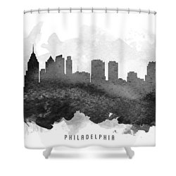 Philadelphia Cityscape 11 Shower Curtain by Aged Pixel