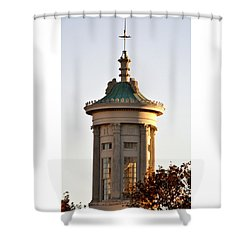 Philadelphia Merchant's Exchange Tower Shower Curtain by Christopher Woods