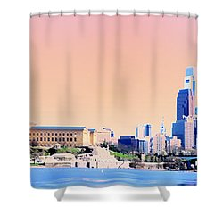Philadelphia Panoramic Shower Curtain by Bill Cannon