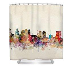 Philadelphia Pennsylvania Shower Curtain by Bri B