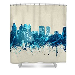 Philadelphia Pennsylvania Skyline 20 Shower Curtain by Aged Pixel