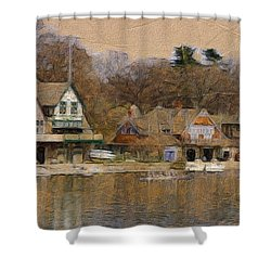 Philadelphia Rowing Clubs Shower Curtain