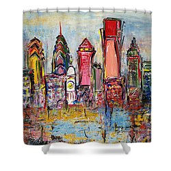 Philadelphia Skyline 232 1 Shower Curtain