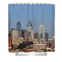 Philadelphia Standing Tall Shower Curtain by Bill Cannon