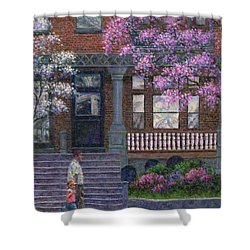 Philadelphia Street In Spring Shower Curtain