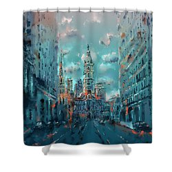 Philadelphia Street Shower Curtain